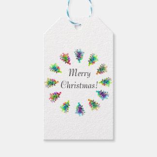 Abstract christmas tree gift bag.