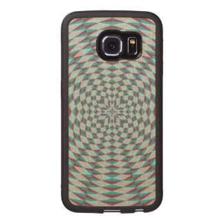 Abstract Circle Pattern Wood Phone Case
