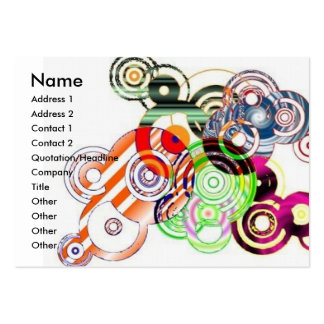 Abstract circles pack of chubby business cards