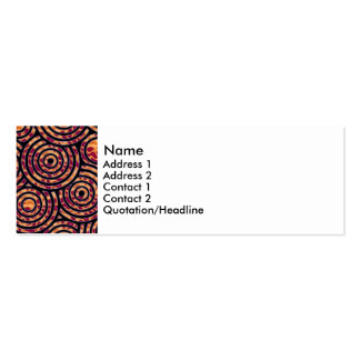 Abstract circles pack of skinny business cards
