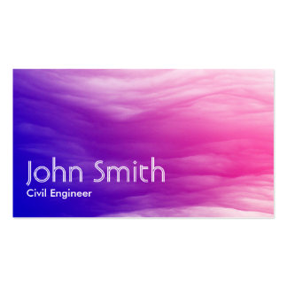 Abstract Colorful Civil Engineer Business Card