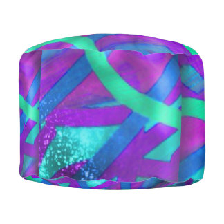 Abstract Colorful Pouf