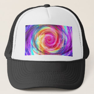 abstract colorful swirl by Tutti Trucker Hat