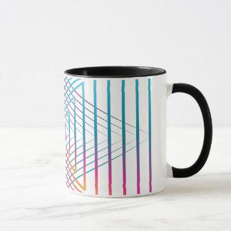 Abstract colorful triangle mug