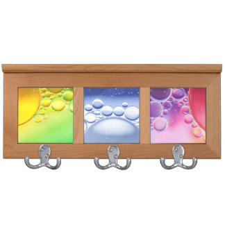 Abstract Colorful Water Bubbles Macro Coat Rack