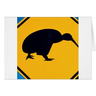 Abstract Colors Kiwi Sign Card