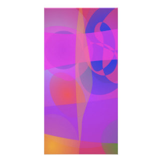 Abstract Colors Personalized Photo Card