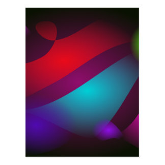 Abstract Colors with Black Background Post Card