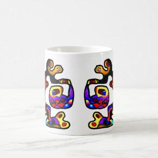 Abstract colourful  dragon  mug