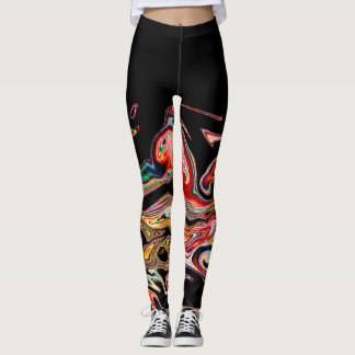 Abstract Colourful line Leggings