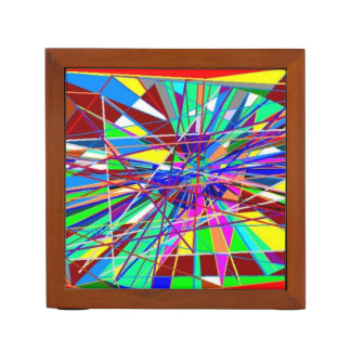 Abstract Colours Desk Organiser