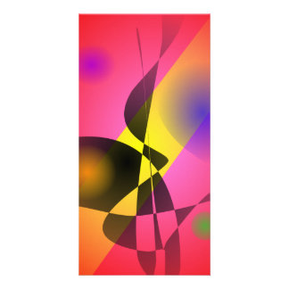 Abstract Composition Red Wind Personalized Photo Card