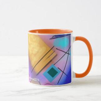 Abstract Contempory mug