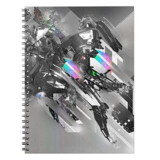 Abstract Cool Transformation Robotics Spiral Notebooks
