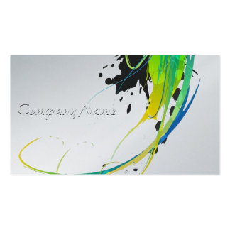 Abstract Cool Waters Paint Splatters Pack Of Standard Business Cards