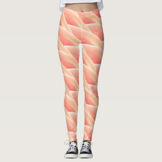 Abstract Coral Curly Wave Pattern #2 Leggings