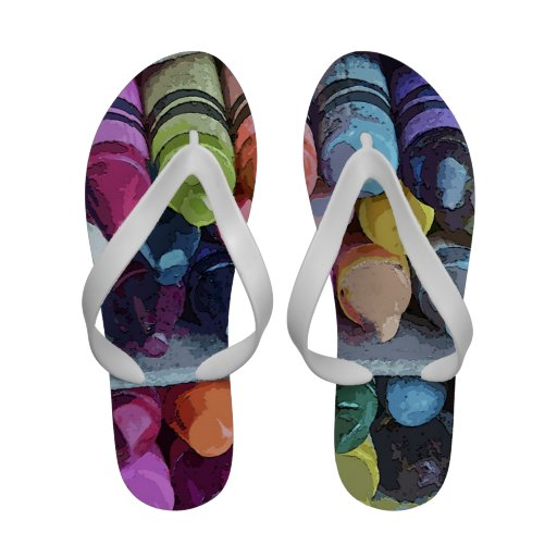 Abstract Crayons Women's Sandals