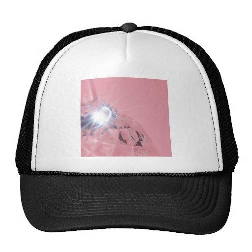 Abstract Crystal Reflect Wine Mesh Hats