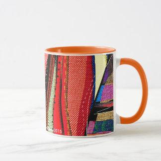 Abstract Cubist Stripes mug