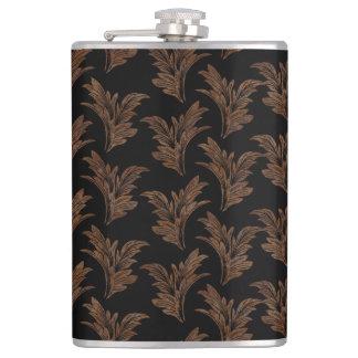 Abstract, decorative damasks hip flask
