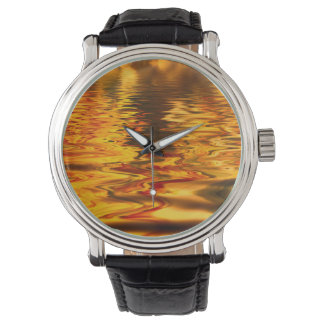 Abstract Design Bright Water Surface Watch