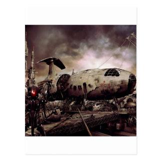 Abstract Destruction Back To Basics Postcard