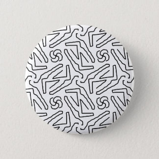 Abstract doodle pattern 6 cm round badge