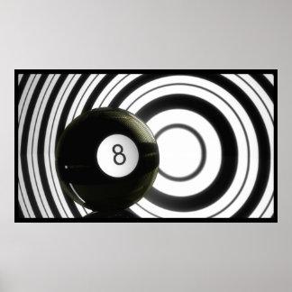 Abstract Eightball Poster