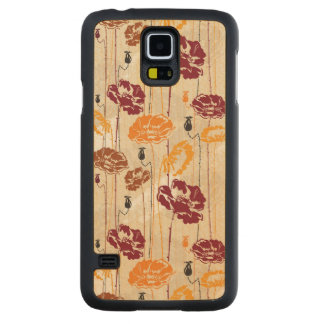 Abstract Elegance floral pattern 4 Carved Maple Galaxy S5 Case