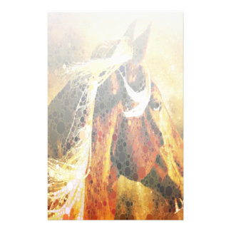 Abstract equestrian western country horse stationery