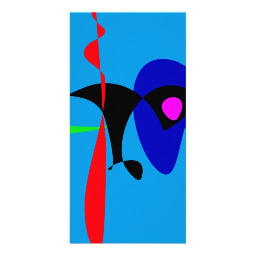 Abstract Expressionism Simple Digital Art Photo Greeting Card
