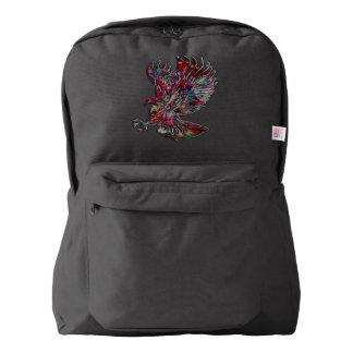 Abstract Faux Metallic Tribal Eagle Backpack