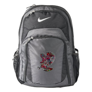 Abstract Faux Metallic Tribal Eagle Backpack
