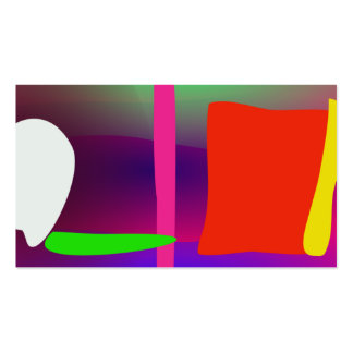 Abstract Fence Business Cards
