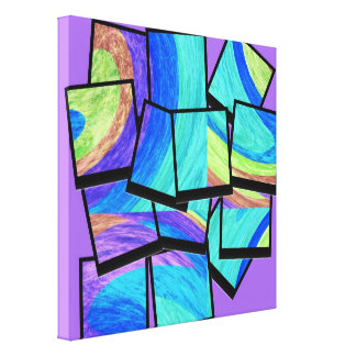 Abstract fine art painting 2 stretched canvas prints