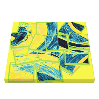 Abstract fine art painting stretched canvas print
