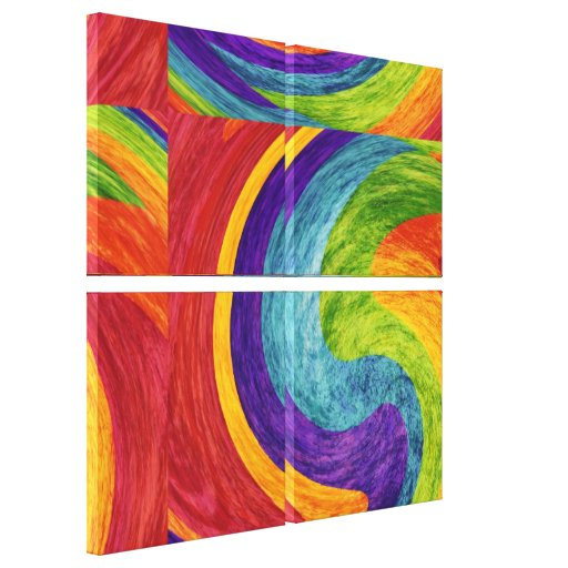 Abstract fine art painting canvas print