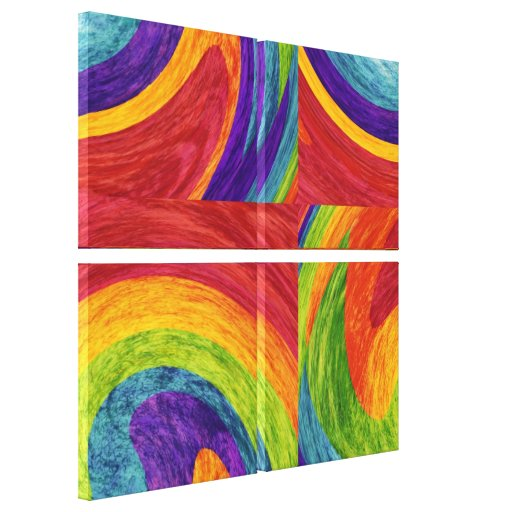 Abstract fine art painting stretched canvas prints