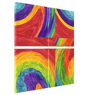 Abstract fine art painting gallery wrap canvas