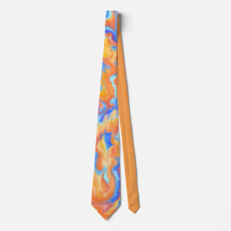 Abstract Fire Balls Tie