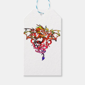 Abstract Fire Breathing Tribal Dragon Gift Tags