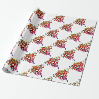 Abstract Fire Breathing Tribal Dragon Wrapping Paper