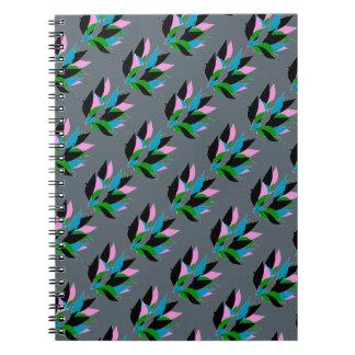 Abstract Flora Design on Spiral Notebook