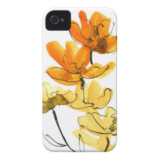 Abstract floral background iPhone 4 cover