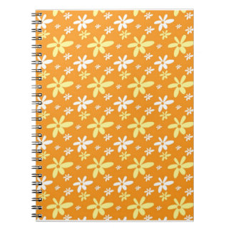 Abstract Floral Notebook :Orange