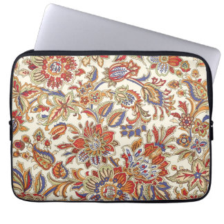 Abstract Floral Pattern Neoprene Laptop Sleeve