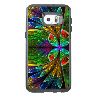 Abstract Floral Stained Glass Pattern OtterBox Samsung Galaxy S6 Edge Plus Case