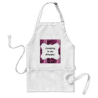 Abstract Floral Swirl Vines Deep Purple Girly Gift Standard Apron