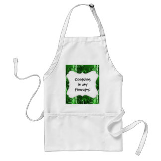 Abstract Floral Swirl Vines Green Girly Gifts Standard Apron