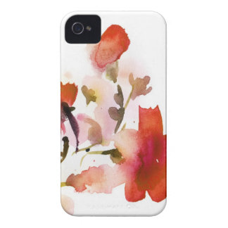 Abstract floral watercolor paintings Case-Mate iPhone 4 case